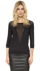 Balmain Sheer Paneled Sweatshirt Black