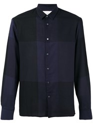 Stephan Schneider Checked Shirt Men Cotton M Blue