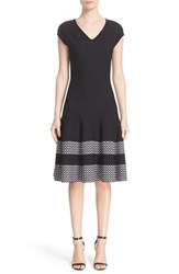 St. John Women's Collection Pinwheel Jacquard Fit And Flare Dress
