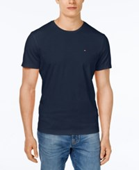 Tommy Hilfiger Big And Tall Men's Beach Crew Neck T Shirt Masters Navy