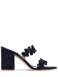 Laurence Dacade 85Mm Tara Plexi And Suede Mules Black