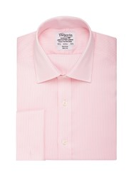 T.M.Lewin Stripe Slim Fit Classic Collar Formal Shirt Pink
