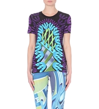 Adidas X Mary Katrantzou Graphic Print Logo T Shirt Multco