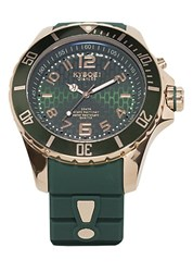 Kyboe Stainless Steel And Silicone Strap Watch Green