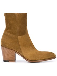 Rocco P. Zipped Ankle Boots Brown