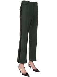Nina Ricci Cropped And Flared Whipcord Pants