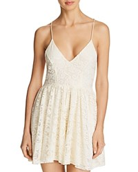 Sam Edelman Lace Sleep Romper Ivory