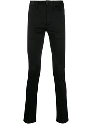 Saint Laurent Fitted Chino Trousers Black