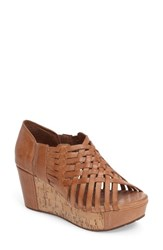 Chocolat Blu Women's Platform Sandal Moka Leather