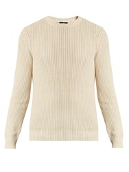 A.P.C. Crew Neck Cotton And Linen Blend Sweater Cream