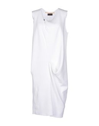 Oyuna Knee Length Dresses White
