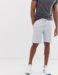 Blend Of America Linen Look Cotton Shorts In Grey