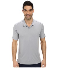 Adidas Travel Elements Polo Mid Grey Men's Short Sleeve Knit Gray