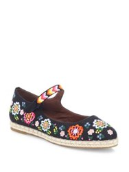 Tabitha Simmons Peggy Festival Embroidered Linen Espadrille Flats