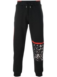 Mcq By Alexander Mcqueen Leopard Print Panel Track Pants Black