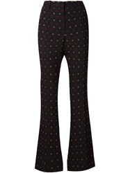 A.L.C. 'Joseph' Flared Trousers Black