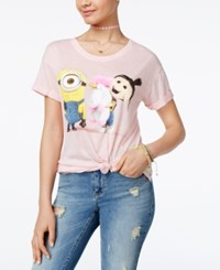 Hybrid Despicable Me Juniors' Minion Unicorn Graphic Tunic T Shirt By Pink