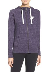 Nike Women's 'Gym Vintage' Front Zip Hoodie Purple Dynasty Sail
