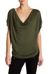 Haute Hippie Cowl Neck Tee Green