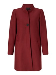 Jigsaw Pressed Flannel Funnel Nk Coat Red