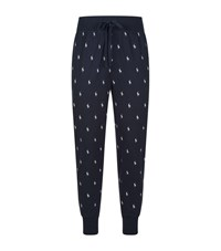 Ralph Lauren Cotton Polo Rider Lounge Trousers Navy