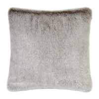 Helen Moore Faux Fur Latte Cushion Brown