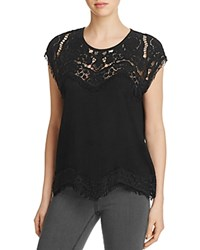 Generation Love Reeves Lace Yoke Top Black