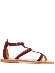 K. Jacques Antioche T Bar Sandals Red