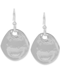 Robert Lee Morris Soho Silver Tone Hammered Disc Drop Earrings