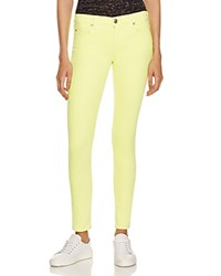 True Religion Halle Mid Rise Skinny Jeans In Neon Yellow