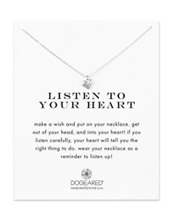 Dogeared Sterling Silver Heart Charm Necklace