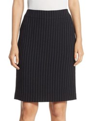 Armani Collezioni Pinstripe Pencil Skirt Black