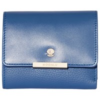 Modalu Margot Leather Small Dropdown Purse Denim Blue