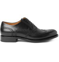 O'keeffe Algy Leather Wingtip Oxford Brogues Black
