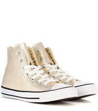 Converse Chuck Taylor All Star High Top Sneakers Gold