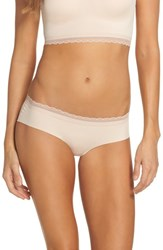 Naked Women's Almost Lace Trim Hipster Briefs Rose Dust