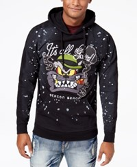 Reason Men's Graphic Print Hoodie Black
