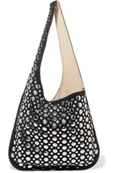Elizabeth And James Finley Studded Suede Shoulder Bag Black