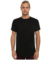 Publish Kelan Henley Knit Short Sleeve Black Men's Short Sleeve Pullover