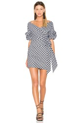 Fame And Partners Russo Mini Dress Black And White