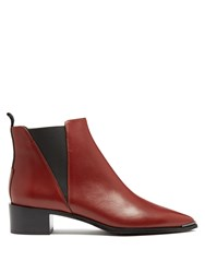 Acne Studios Jensen Leather Ankle Boots Red
