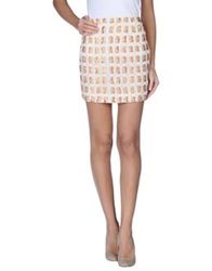 Antik Batik Mini Skirts Ivory