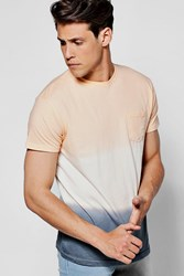 Boohoo Dye Faded Ombre T Shirt Peach