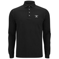 Barbour Men's Standards Long Sleeve Embroidered Polo Shirt Black