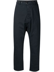 Barena Cropped Chino Trousers Blue