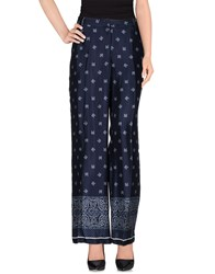 Fairly Trousers Casual Trousers Women Dark Blue