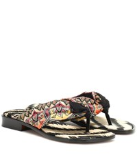 Etro Paisley Satin Sandals Multicoloured
