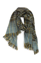 Saachi Plaid Scarf Black Multi