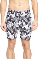 Jack Spade Men's In The Tropics Swim Trunks Navy White