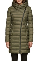 Soia And Kyo Hooded Down Puffer Jacket Army